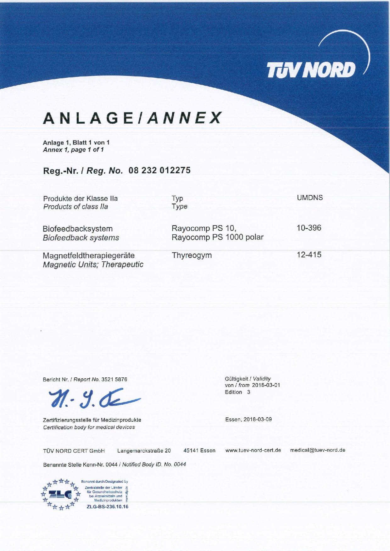 Rayonex Biomedical Anhang II.3 Anlage ed. 3 de-en